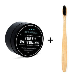 Powdered teeth whitening activated carbon