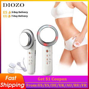 Ultrasound Slimming Machine Infrared EMS Cavitation Body Cellulite Removal Device Weight Loss White Skin Tightening