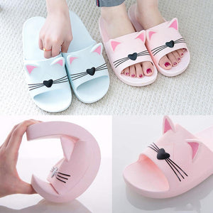cute cat ear and whisker slippers
