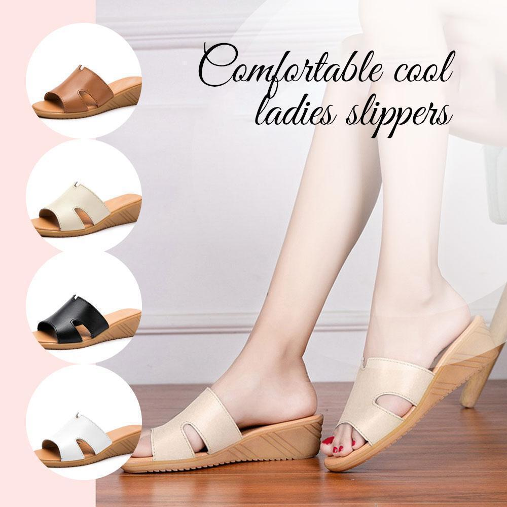 Comfortable cool ladies slippers