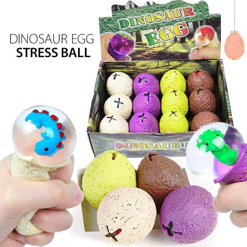 Dinosaur Egg Squeezable Stress Relief Toy Ball
