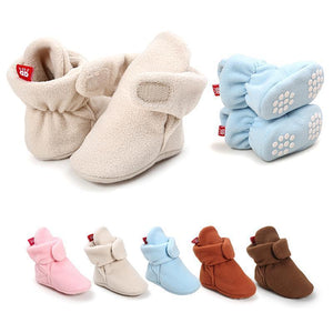 Baby Cozy Fleece Booties with Non Skid Bottom