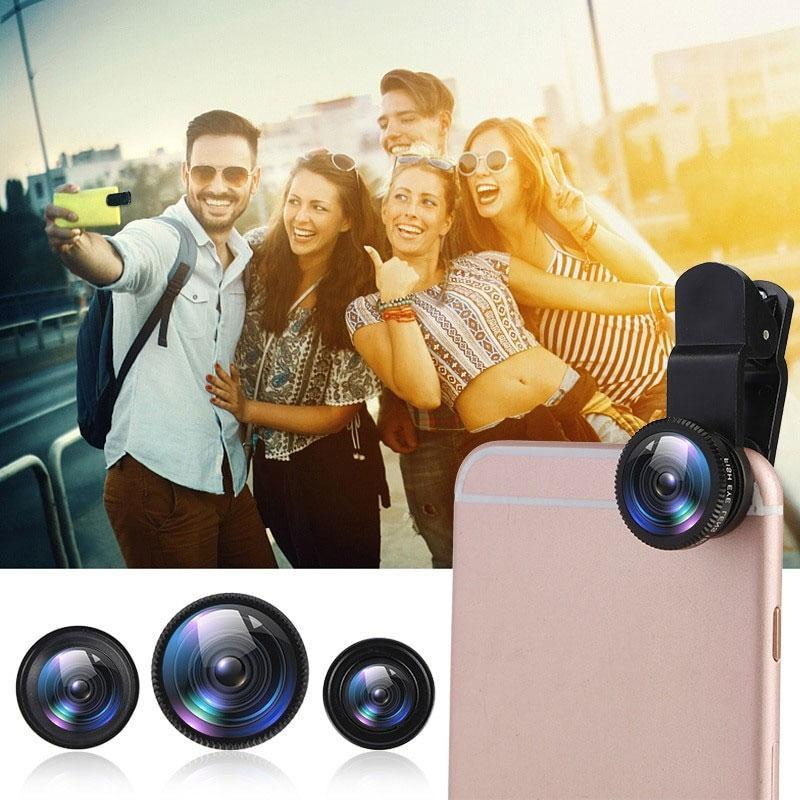 3 in 1 Clip on 180 Degree Fish Eye Lens