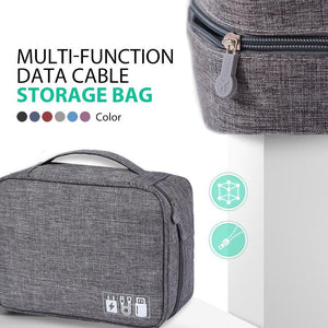 Multi-Function Data Cable Storage Bag
