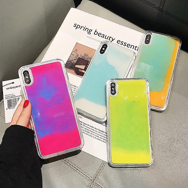 Dynamic Quicksand Flowing Neon Sand Liquid Phone Case