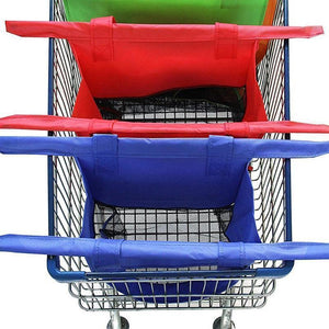 4 in 1 reusable shopping cart bags