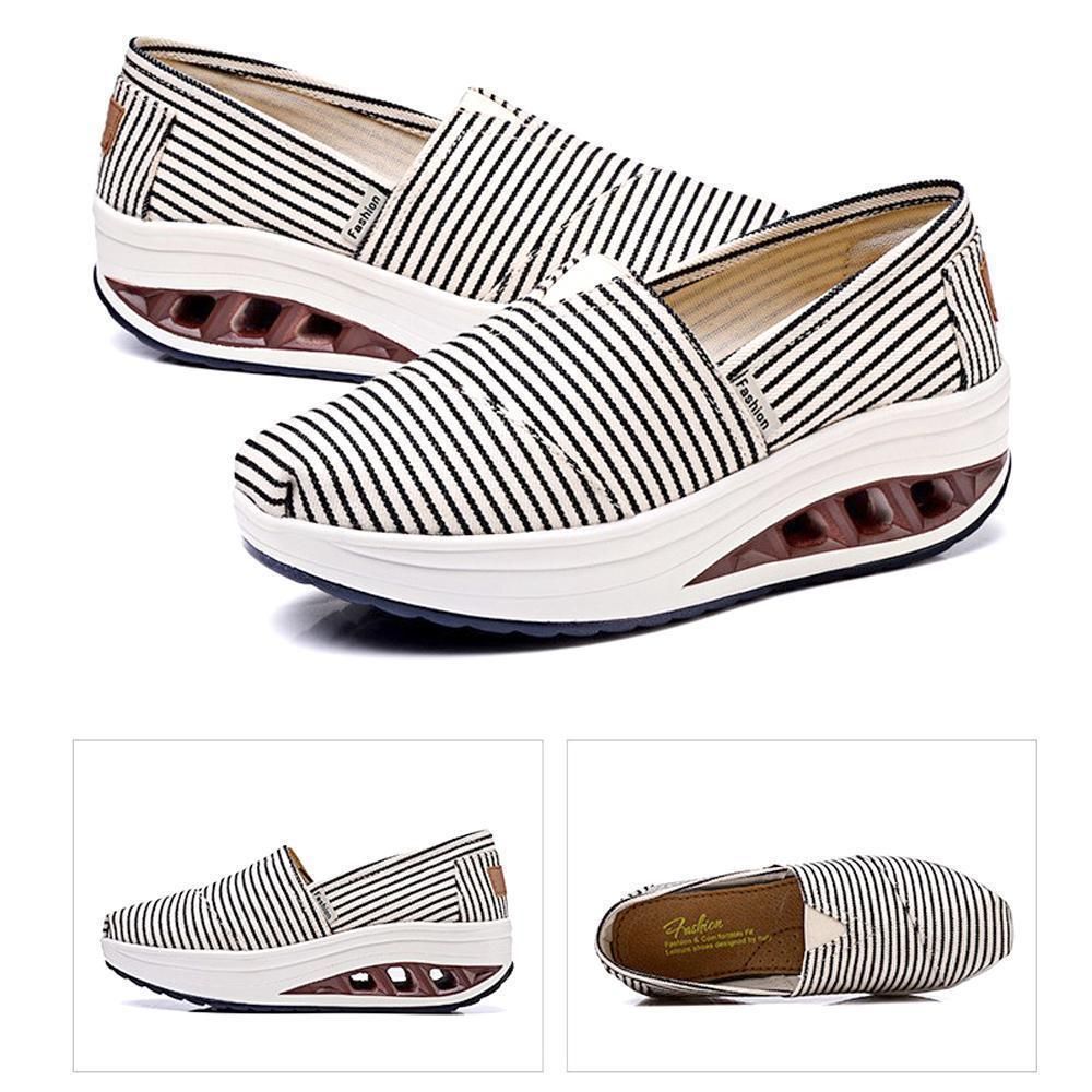 Ladies canvas shoes with shallow mouth
