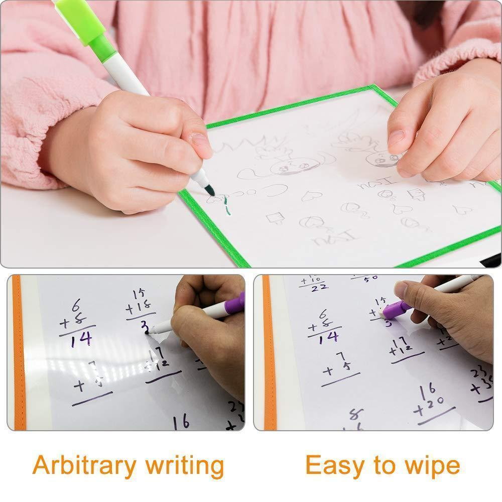Reusable Dry Erase Pockets Set