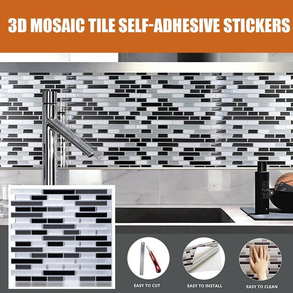 3D Mosaic Tile Self-adhesive Stickers