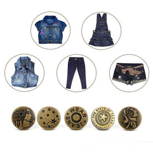 Detachable Adjustable Waist Button Decorative Button