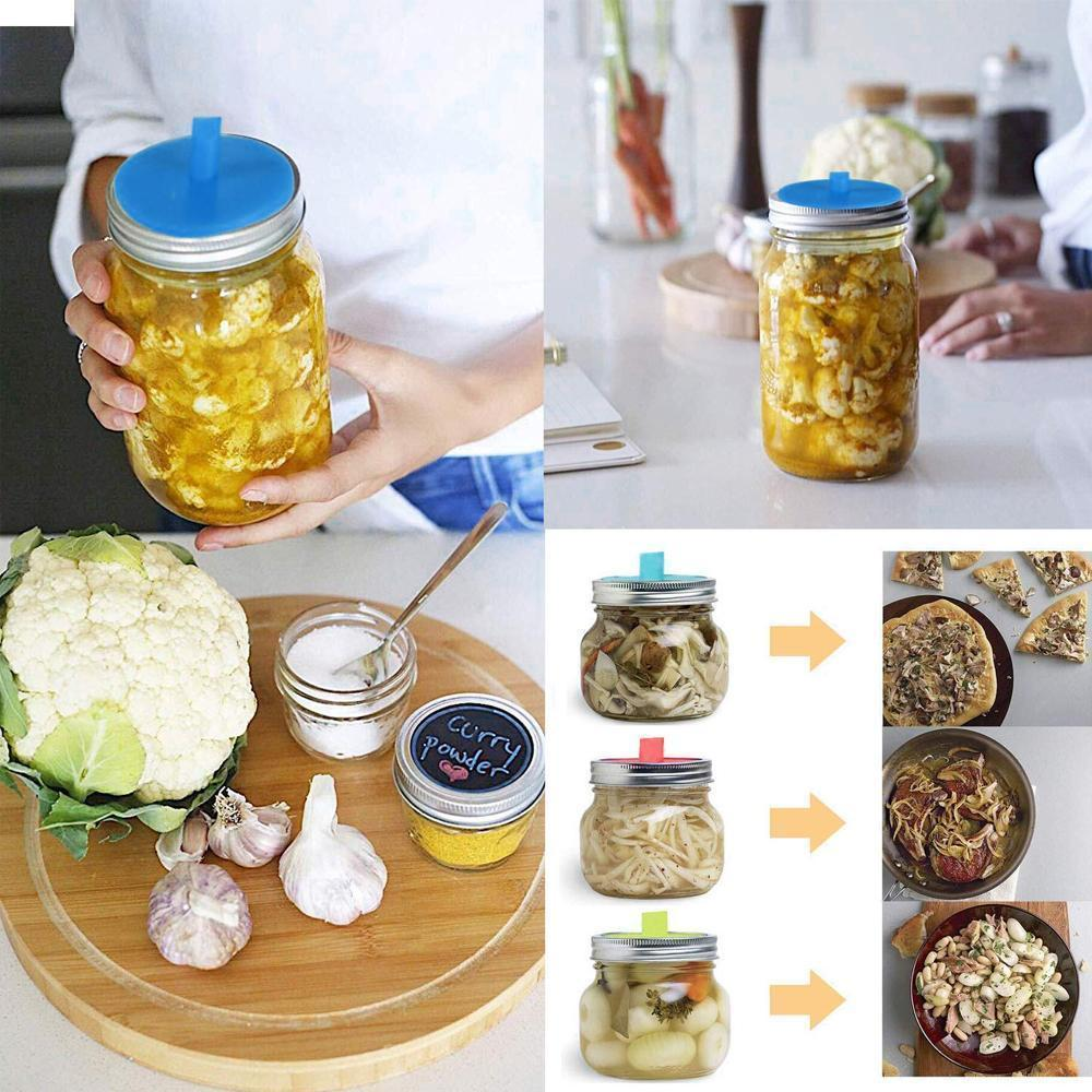 Silicone Sealing Covers for Mason Jar (6 PCs)