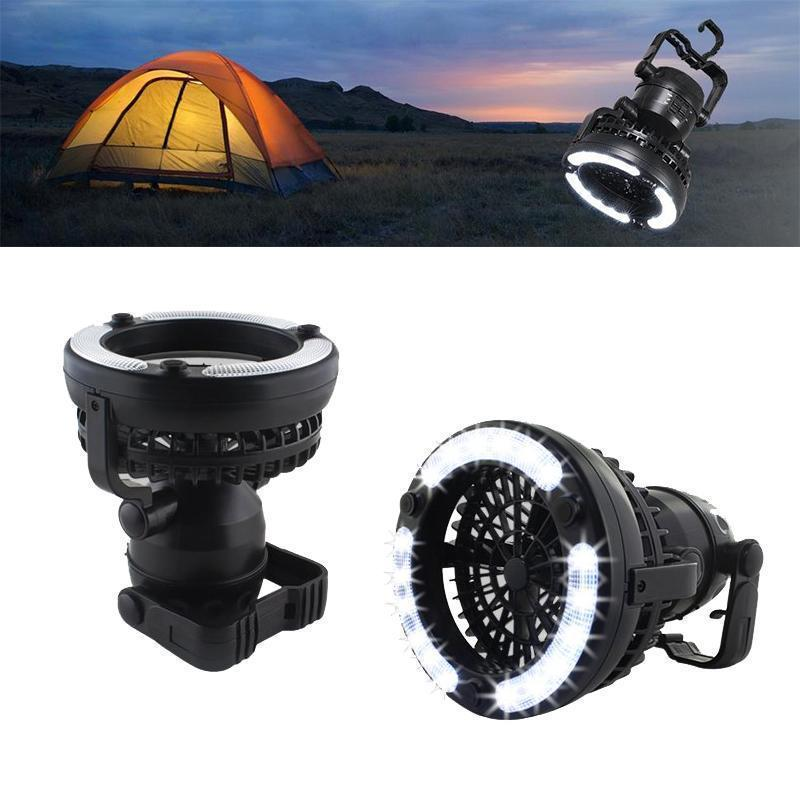 Portable Camping Lantern with Ceiling Fan