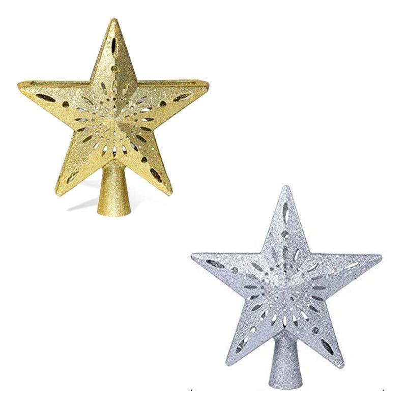 3D Hollow Gold Star Christmas Tree Topper