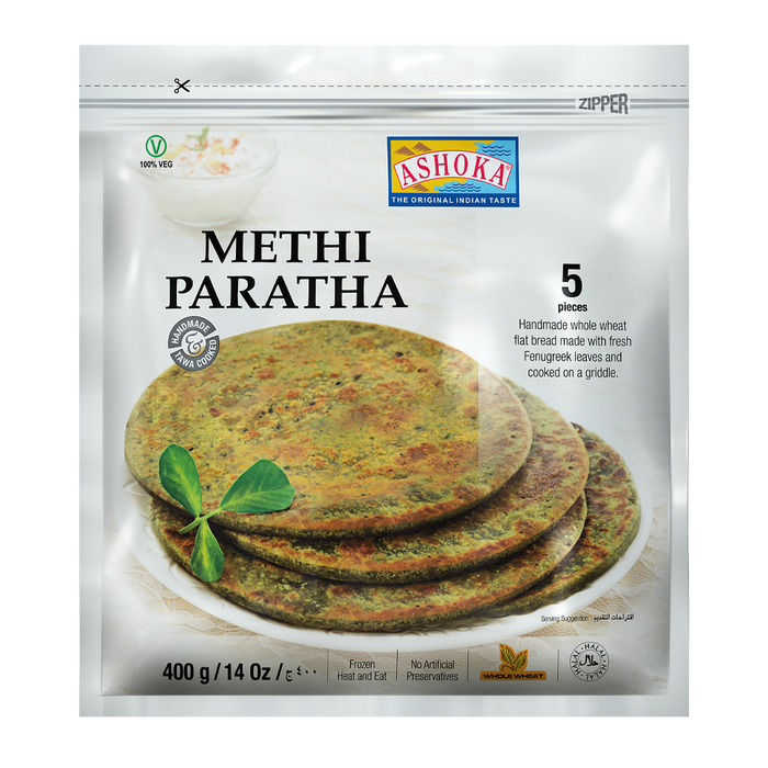 ASHOKA FRZ PARATHA METHI, 400g (5 Pc)