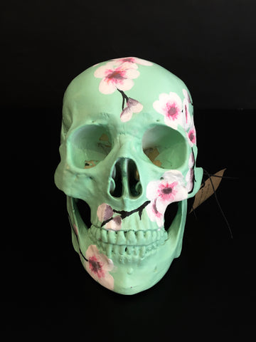 """Cherry Blossom"" skull by Simone de Beer"