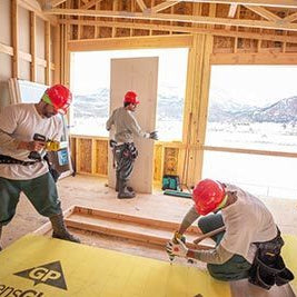 Inmate work crew helping to build Basalt Vista houses