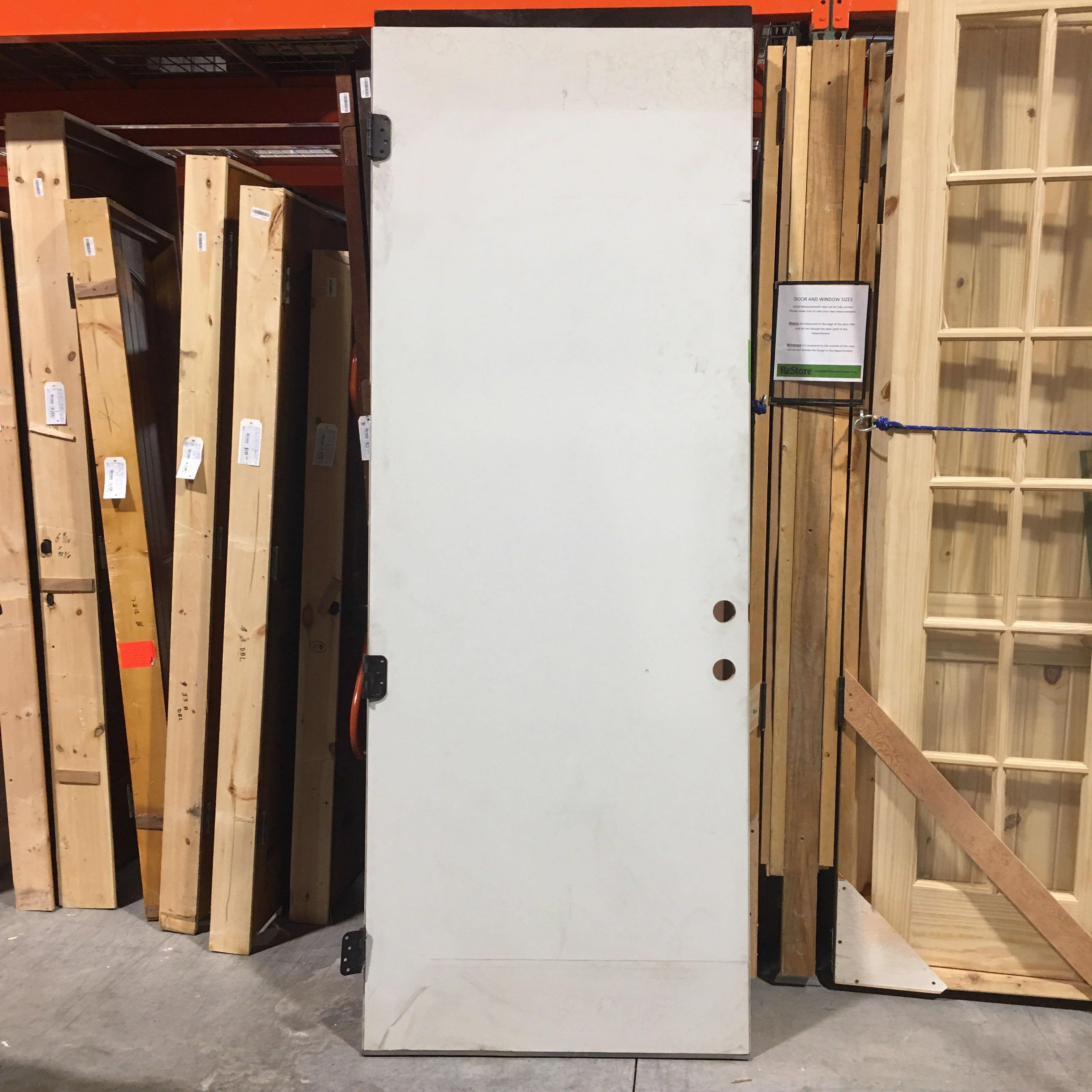 "36"" x 95"" Grey Metal Clad Exterior Door"