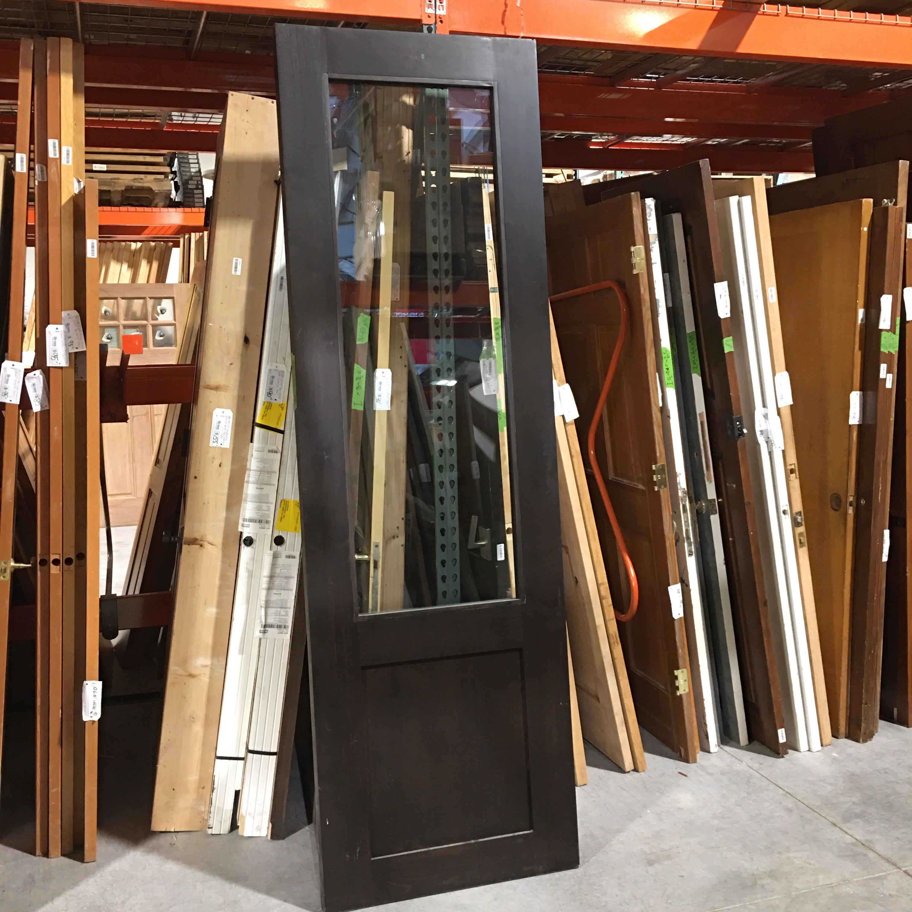 "30"" x 95"" x 1.75"" Dark Brown 1 Light 1 Panel Interior Door"