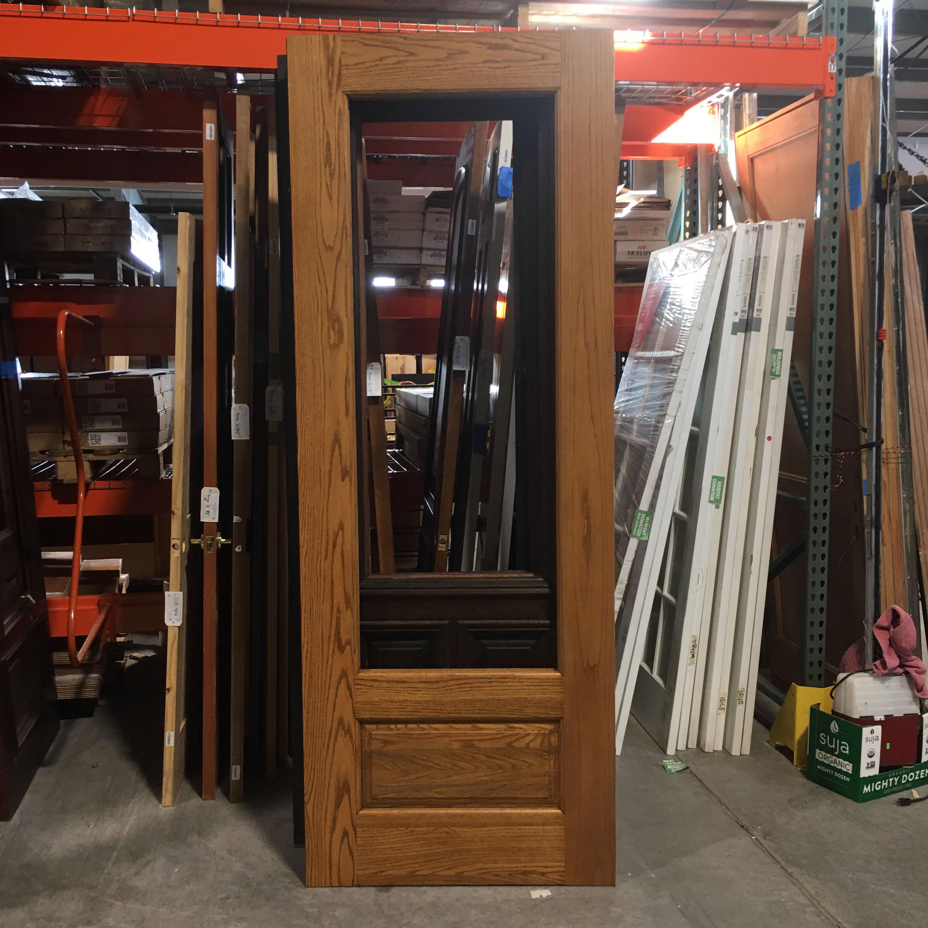 "36"" x 96"" x 1.75"" Light Brown No Window One Panel Interior Door"