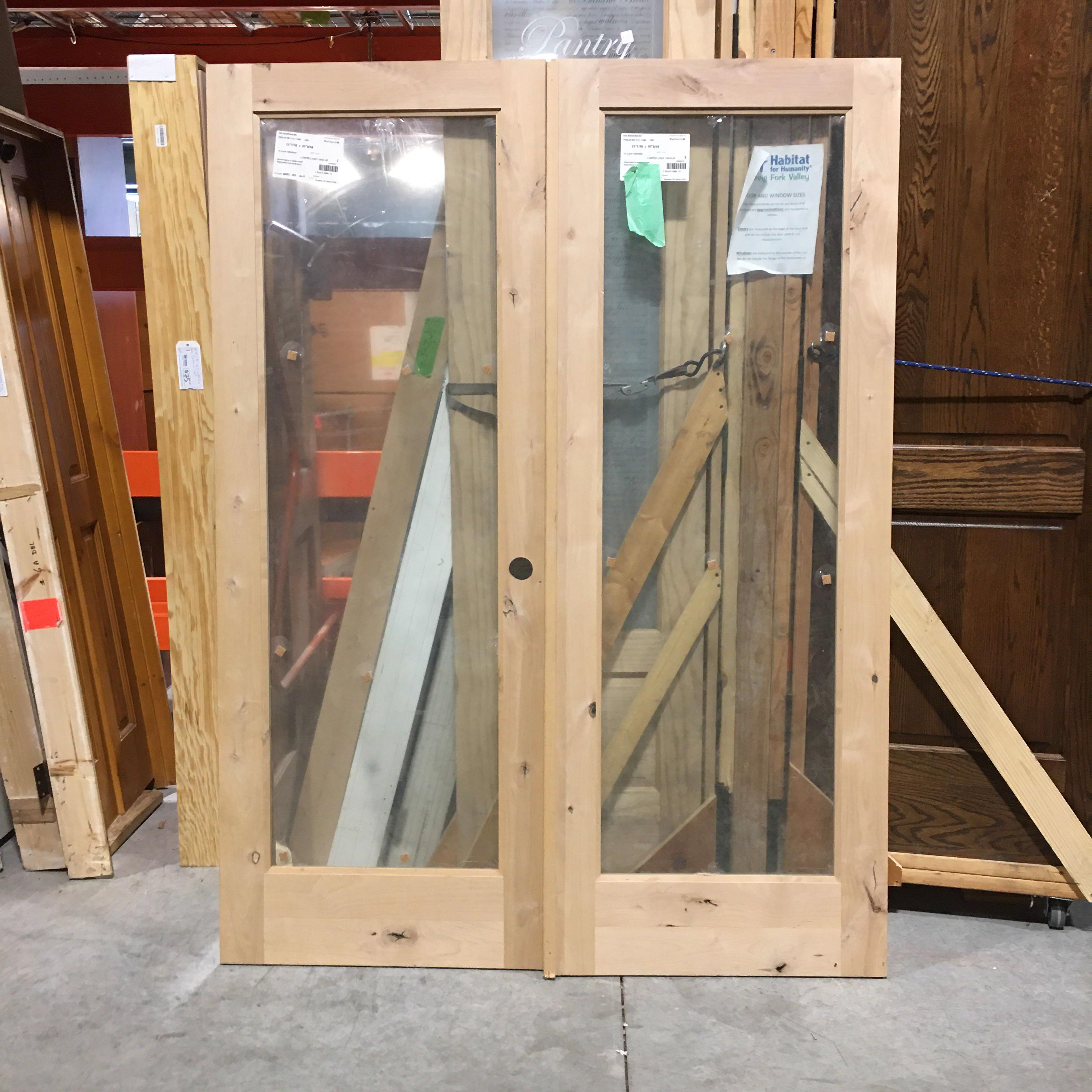 "21.43"" x 67.325"" x 1.5"" Knotty Pine One Light French Door"