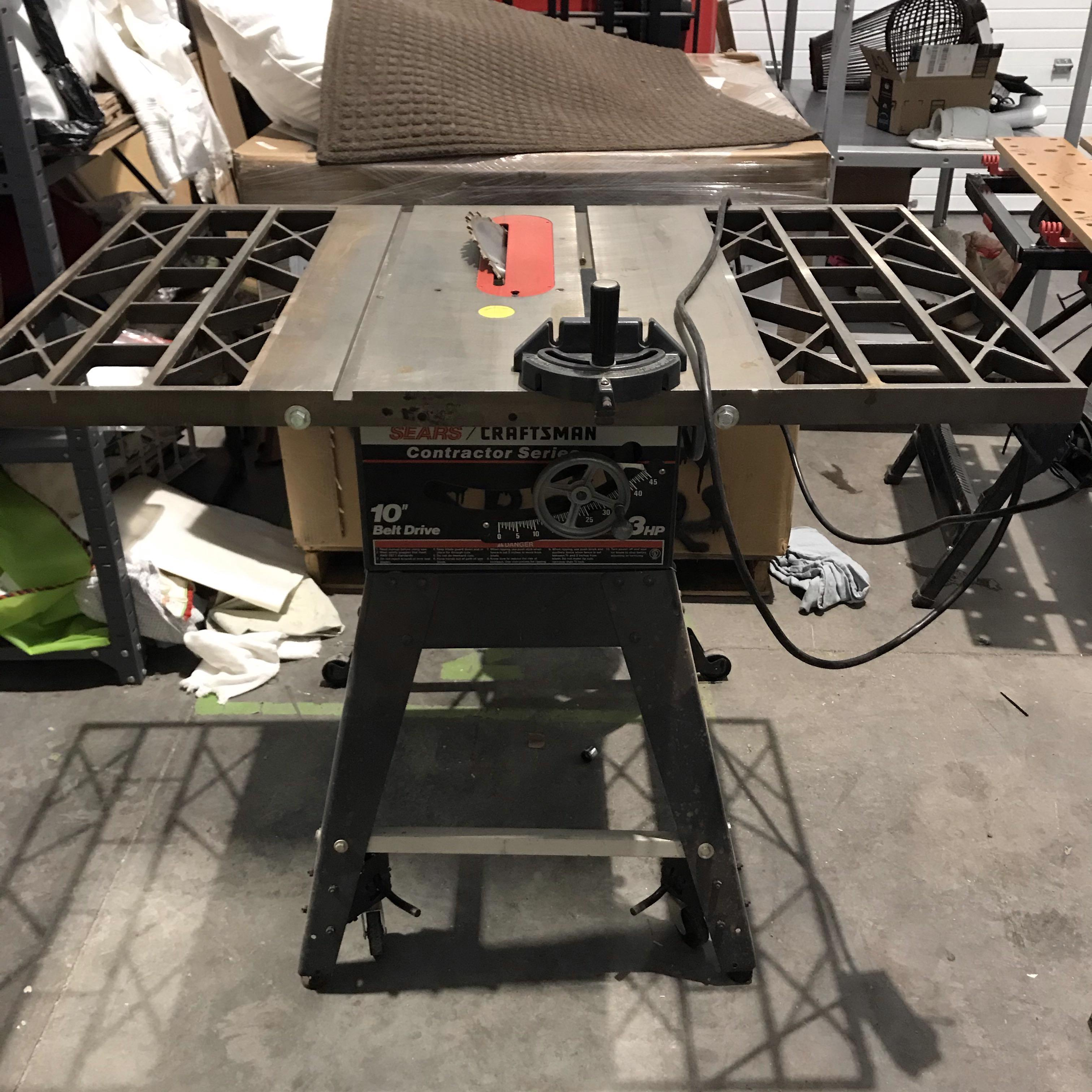 "Sears Craftsman Contractor 10"" Table Saw"