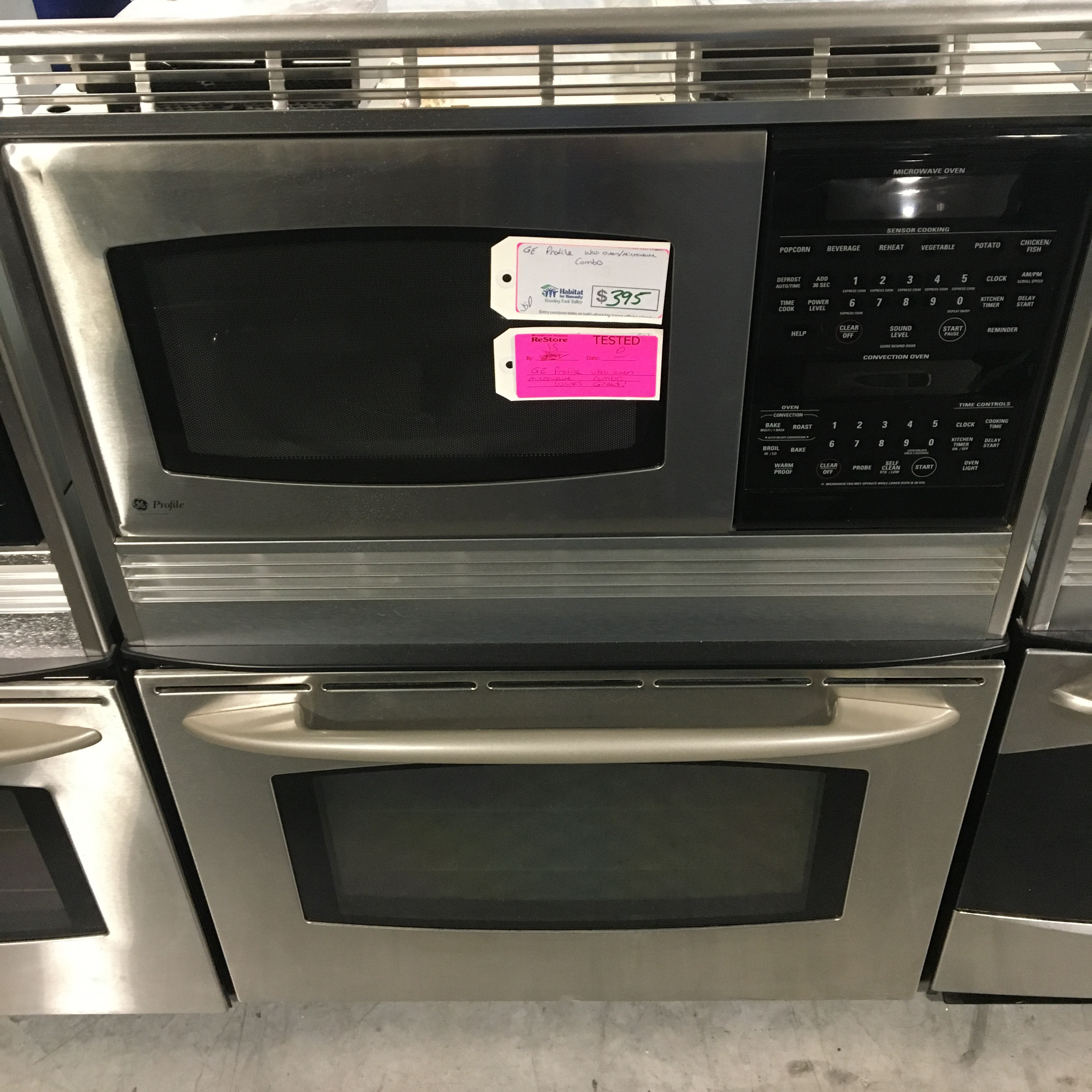 GE Profile Double Oven Microwave Combo Stainless