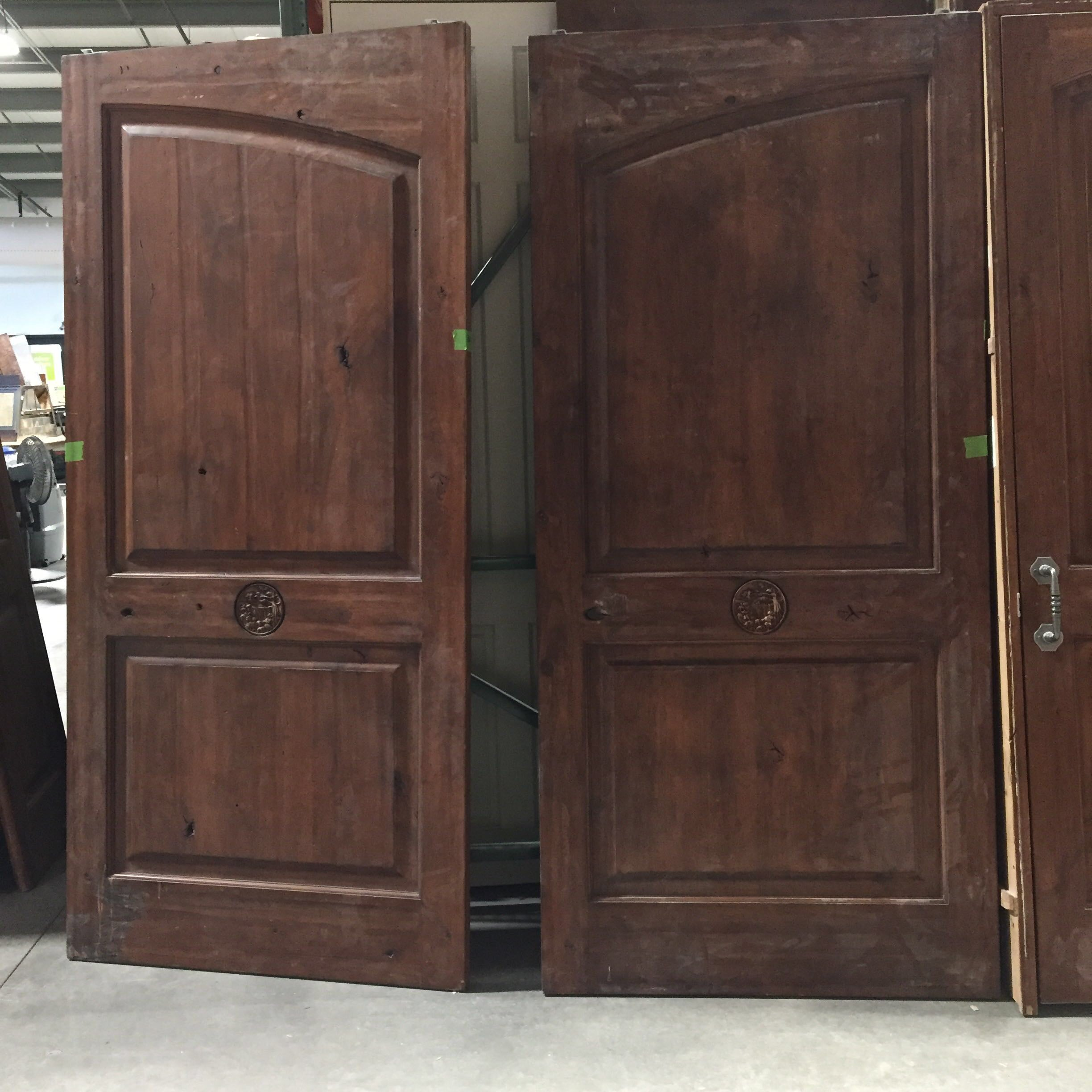 "42.25""x 91"" Medium Brown Finished Pocket Interior French Door Pair"