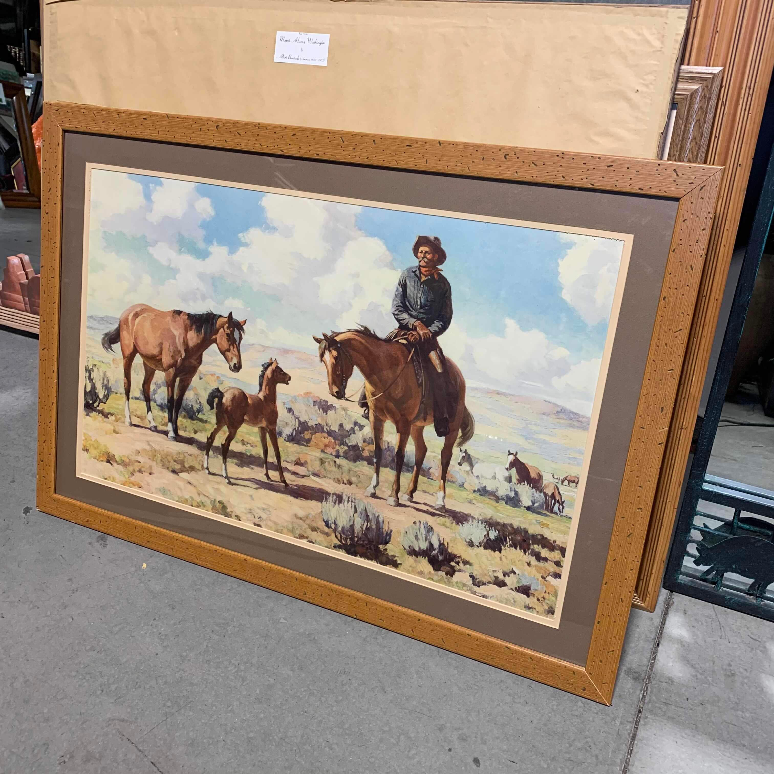 "39"" x 27"" Framed Matted Print ""The Challenge"" by Harold Bryant"