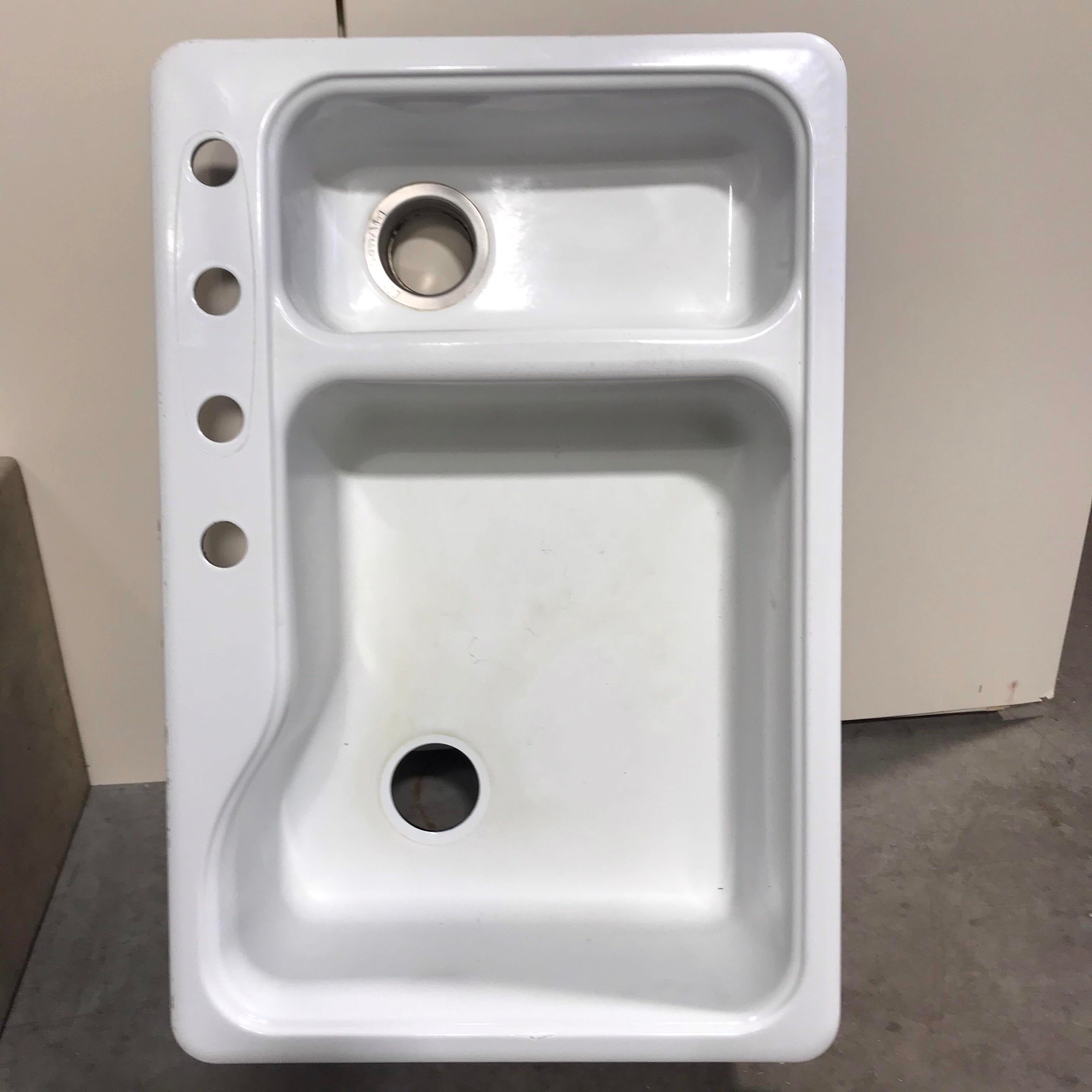 Sink Kitchen Aid White ( 33 X 22 )