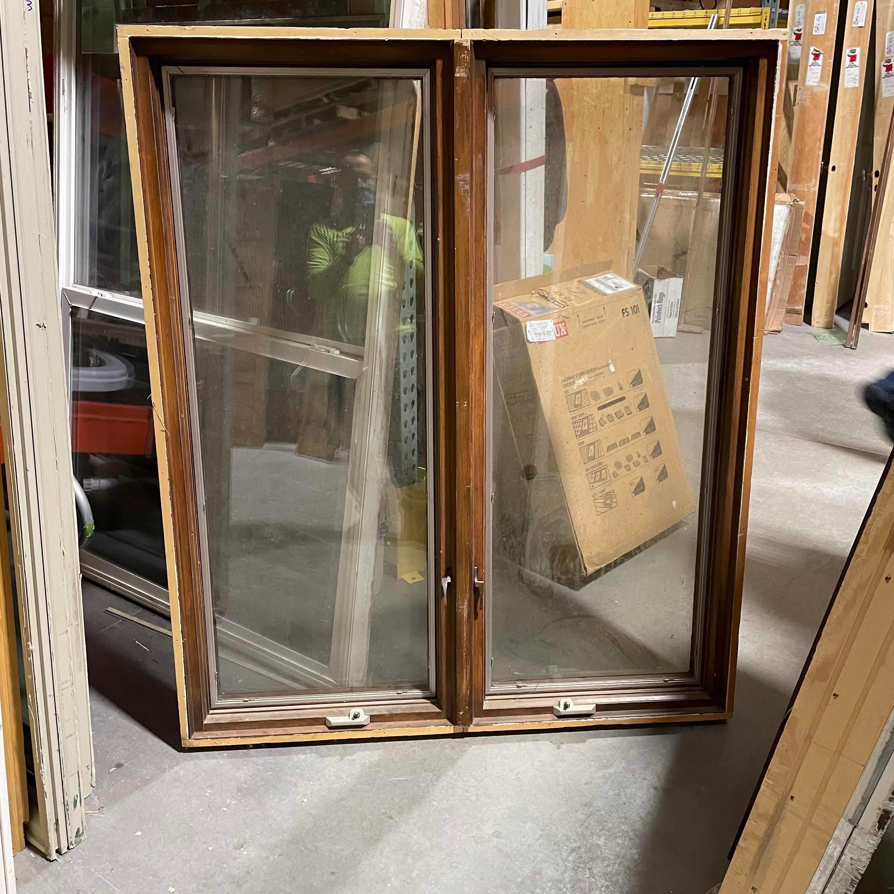 "50""X58.75""X5"" 2-Panel Adjustable Side by Side Exterior Window"