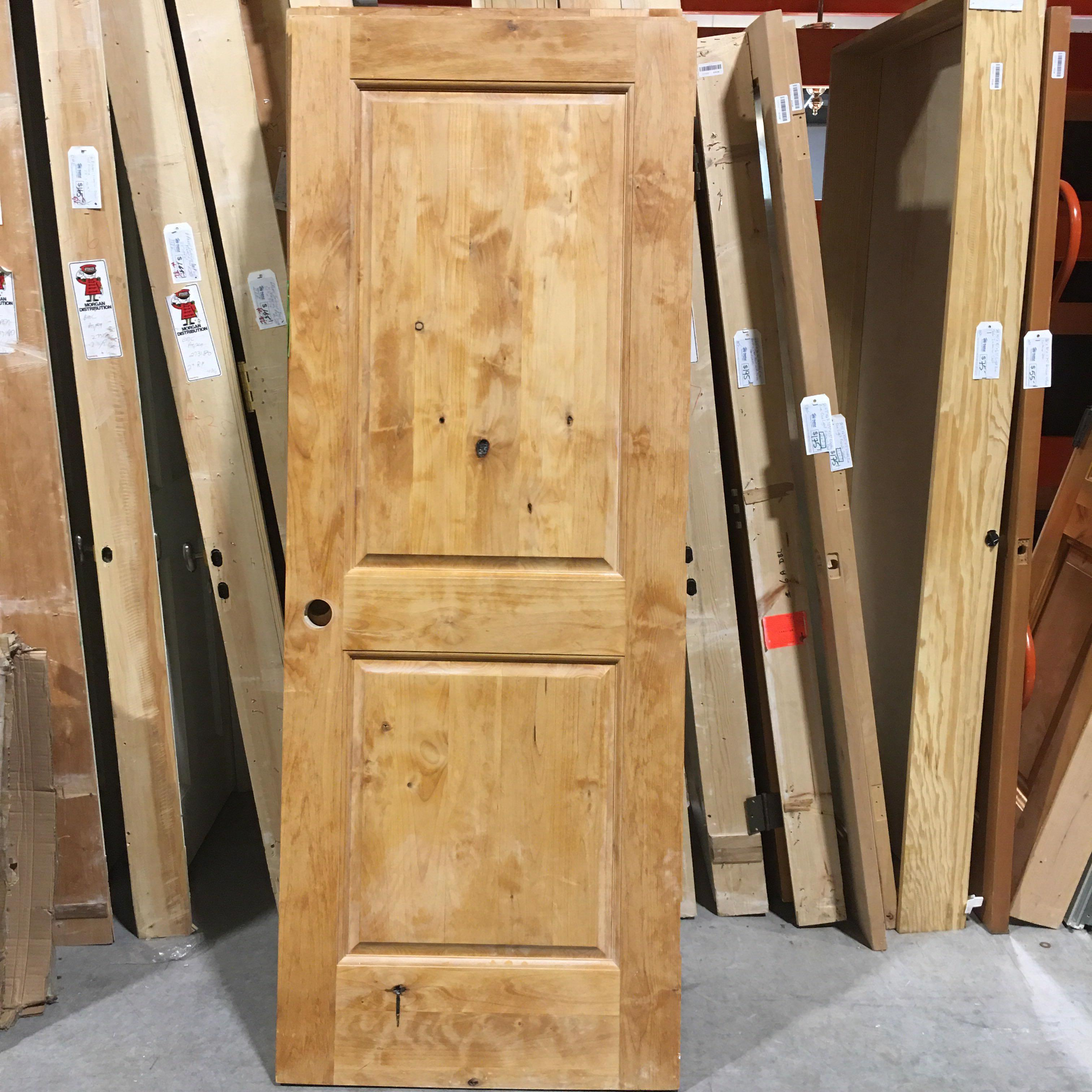 "30"" x 79"" x 1.75"" Knotty Pine Two Panel Interior Door"