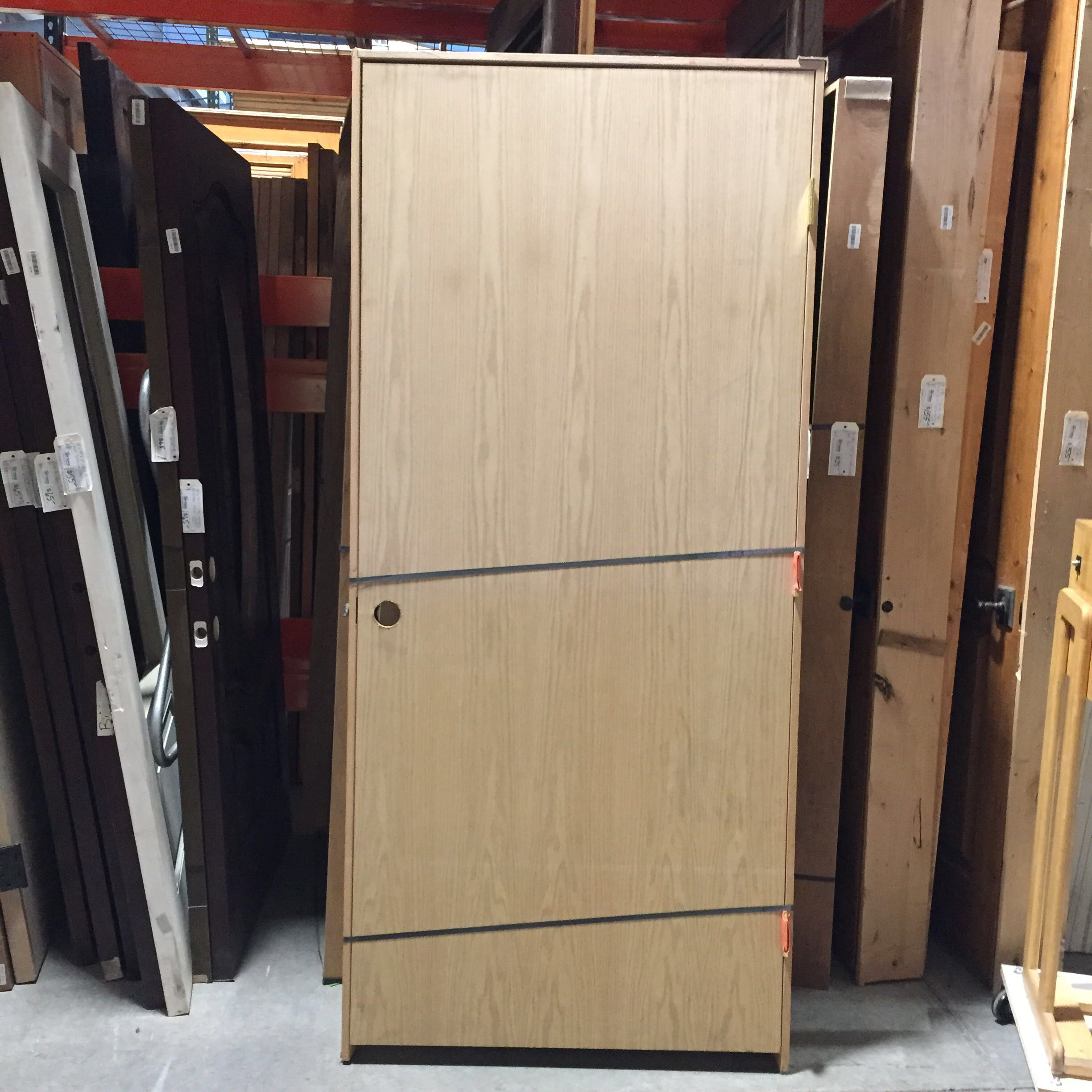 "35.75""x 80""x 1.75"" Unfinished Wood INterior Door With Jamb LH"
