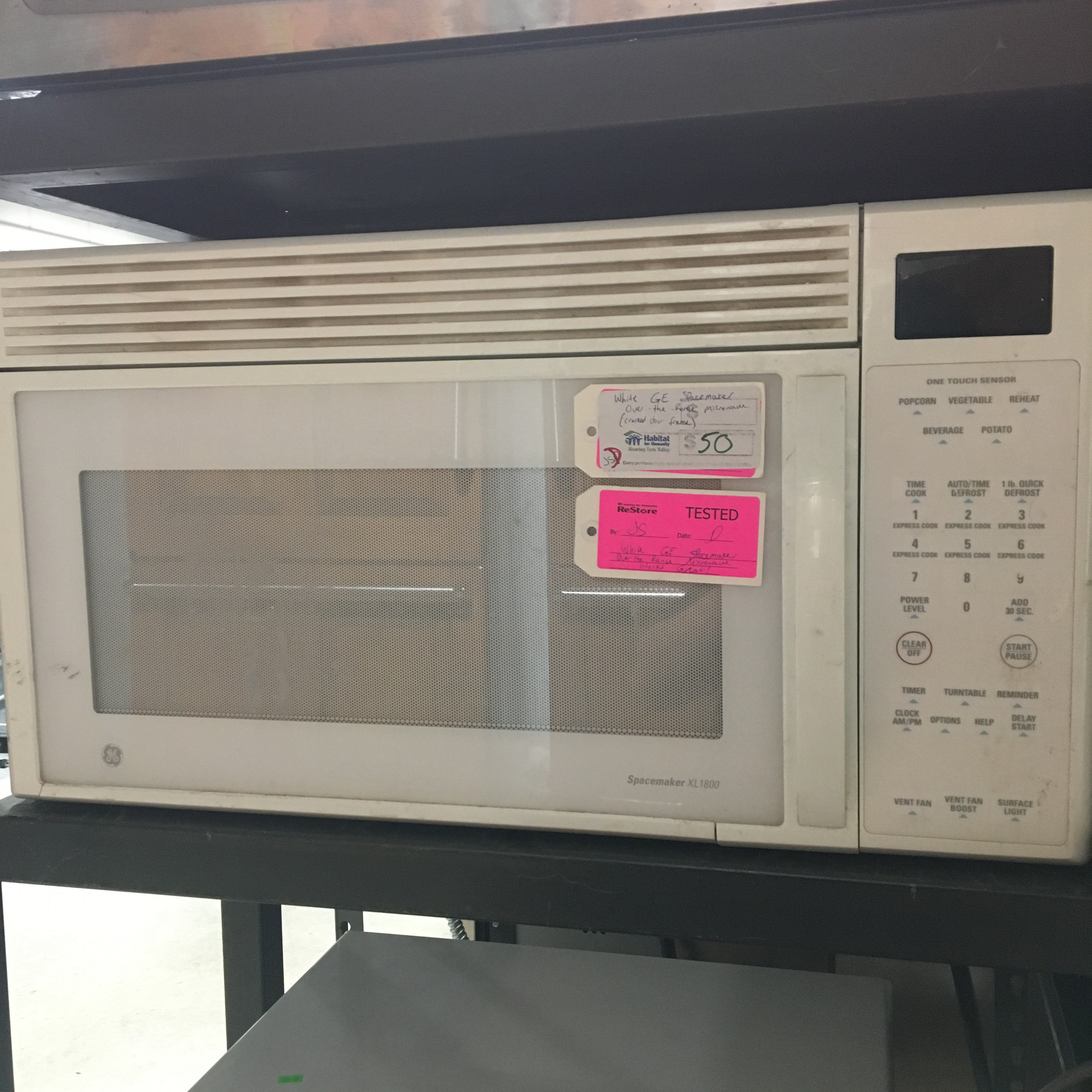 G.E. Spacemaker White Over the Range Microwave