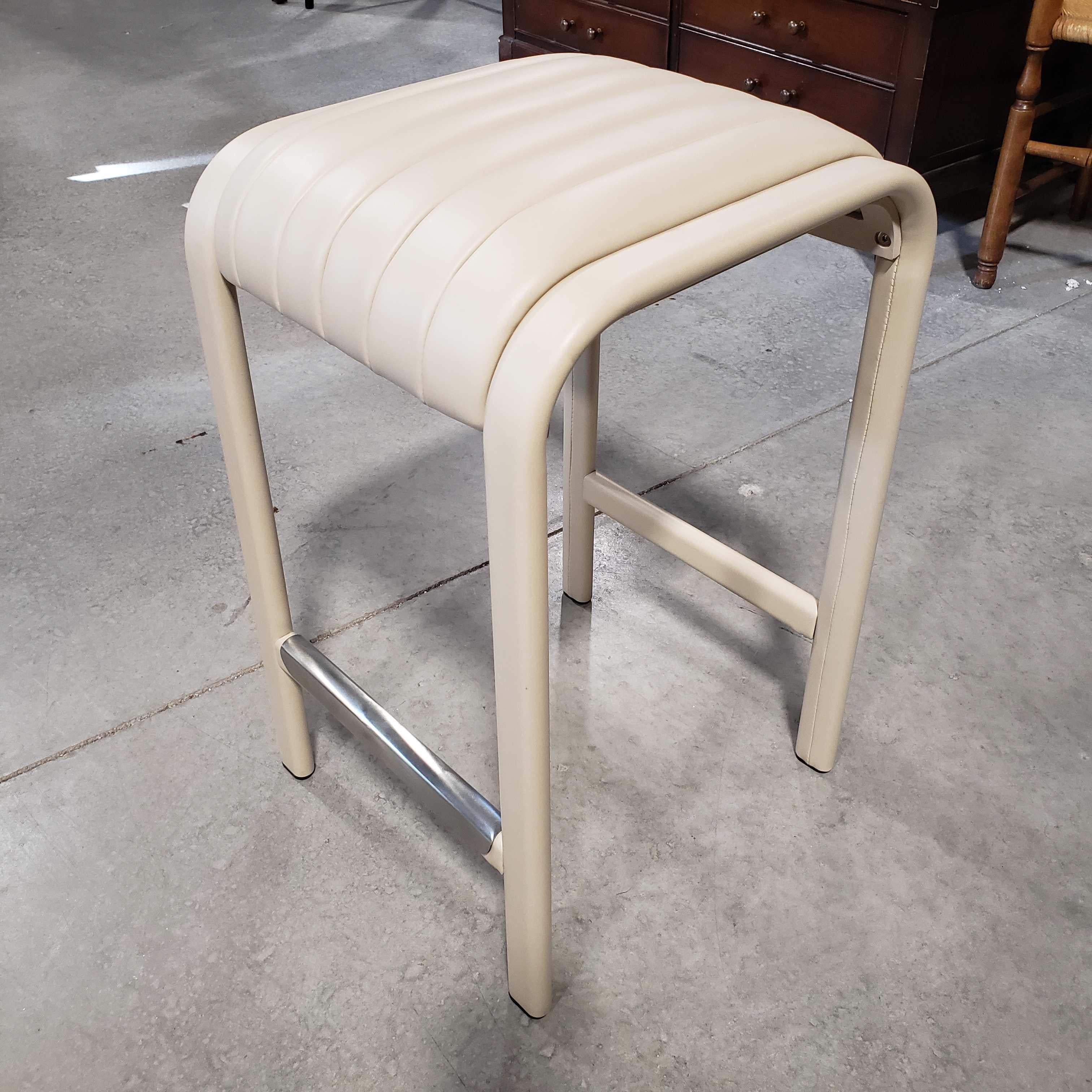 "25"" Interlude Home Diego Cream Leather New Counter Stool"