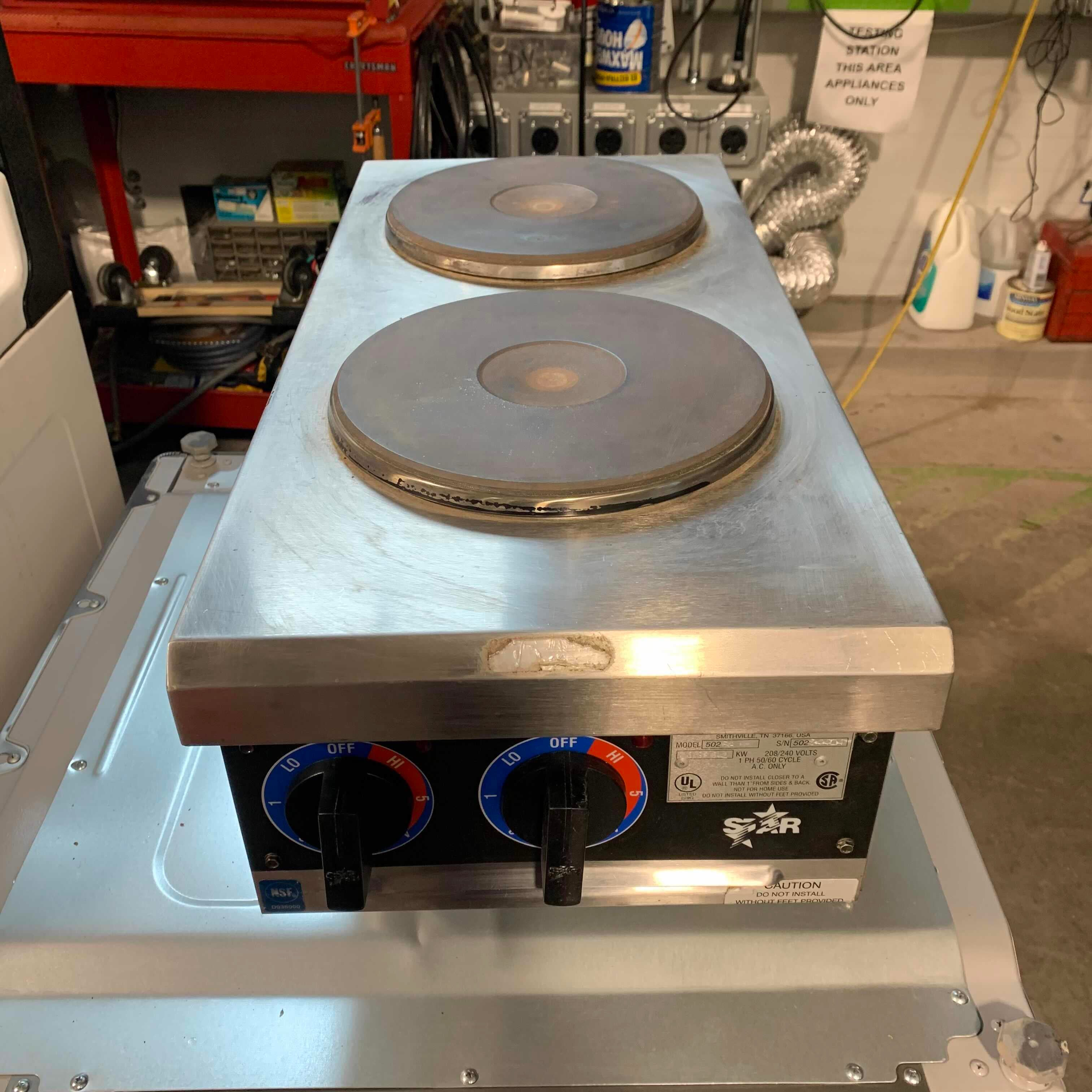 "12"" x 28 1/4"" x 13"" Star 502 2 Burner Hot Plate (Cannot Test)"