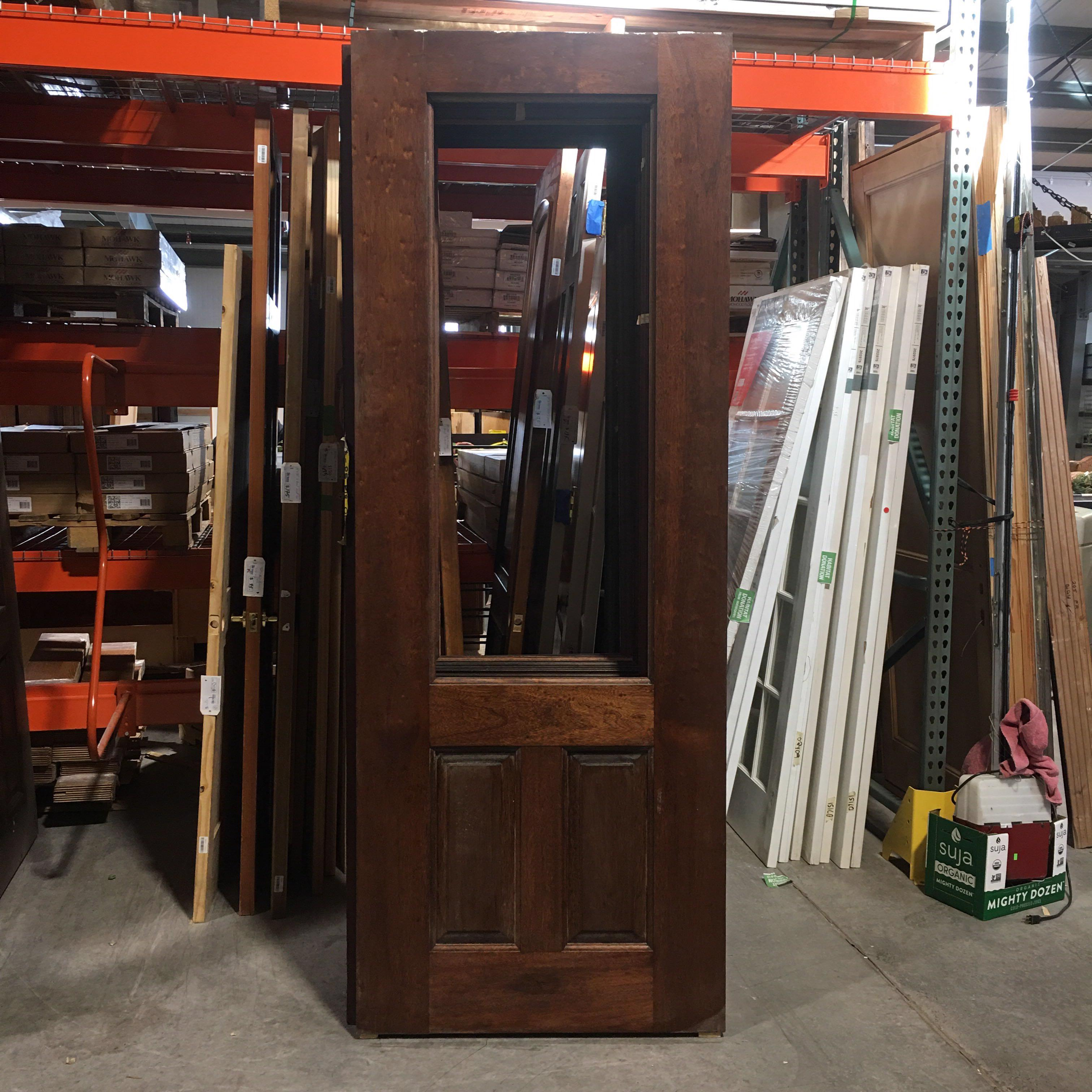 "36"" x 96"" x 1.75"" Dark Brown No Window Two Panel Interior Door"
