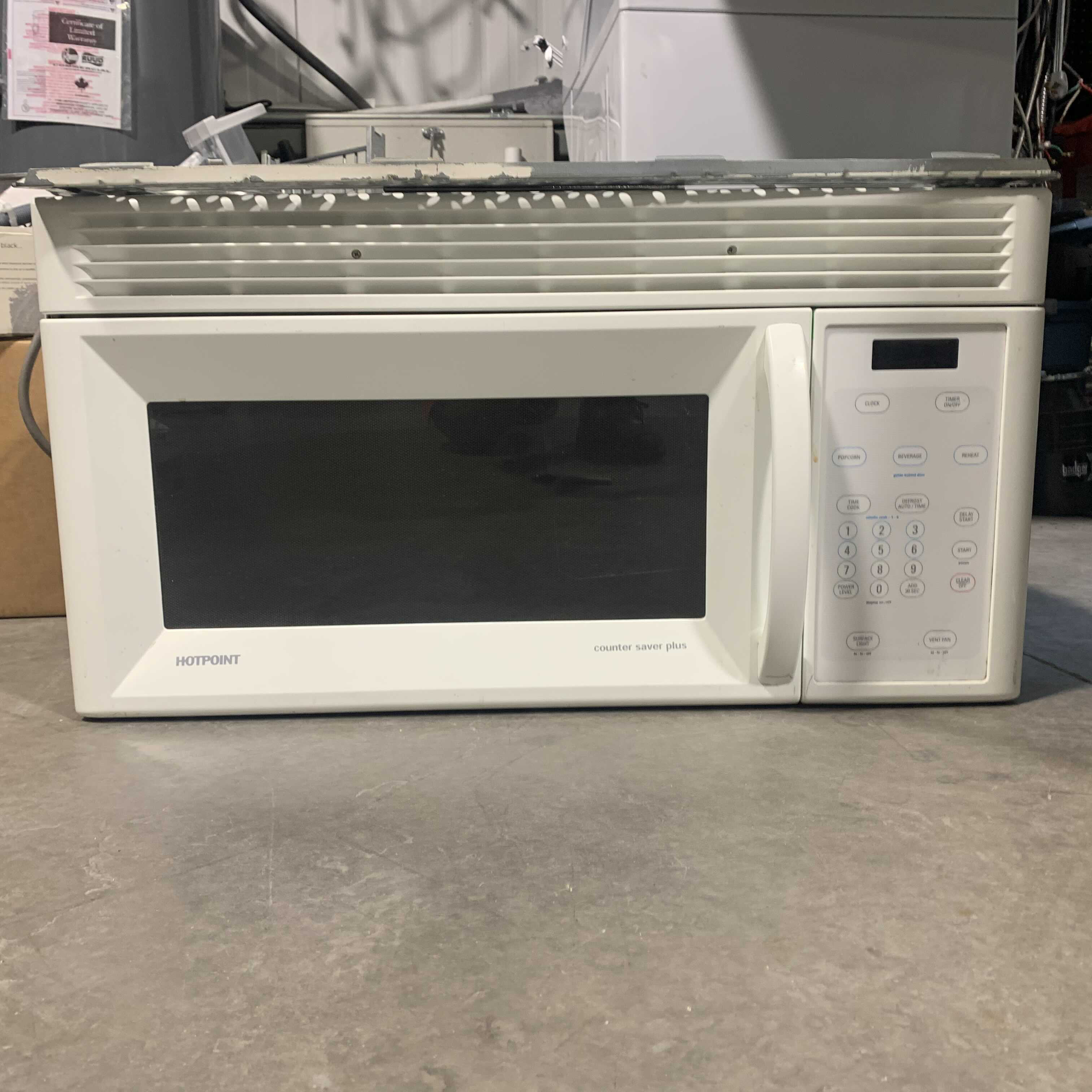 Hotpoint White Over The Range Microwave