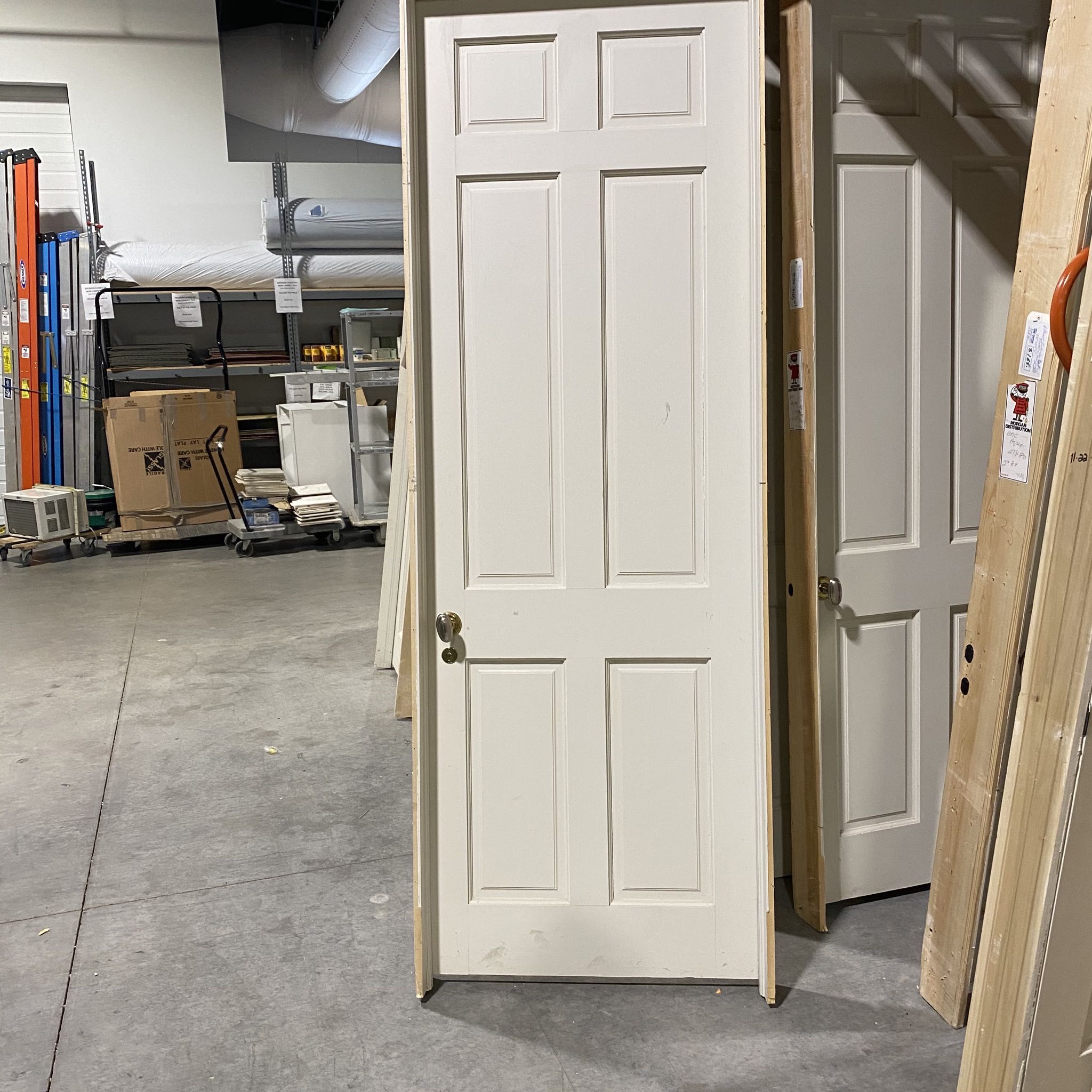 "28""x94.25"" White 6 Panel Interior Door"