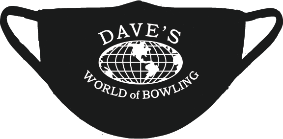 Dave's World of Bowling Face Mask