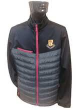 Load image into Gallery viewer, MURRAY GOLF QUILTED SOFTSHELL JACKET - BLACK/MARL/RED
