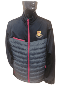 MURRAY GOLF QUILTED SOFTSHELL JACKET - BLACK/MARL/RED