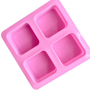 4 Cavities Square Shape Silicone Mould (PUR1015-20)