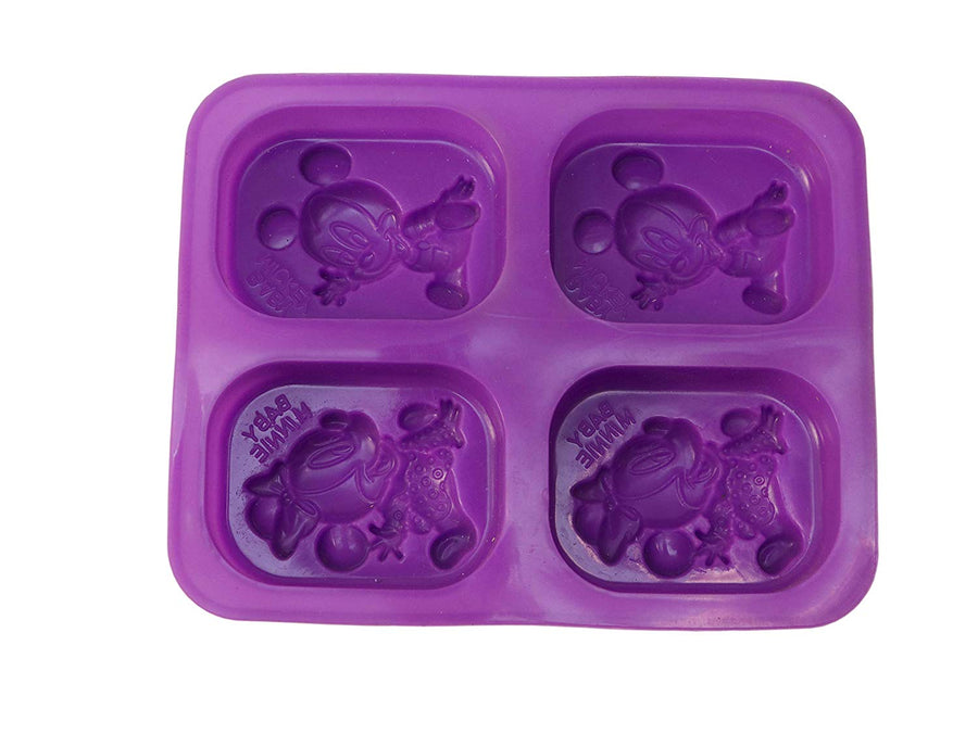 4 Cavities Disney Mickey-Minnie Mouse Shape Mould (PUR1015-10)
