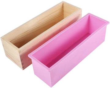 Purenso Silicone Liner/Loaf Mould with Rectangular Wooden Box (PUR1015-01)