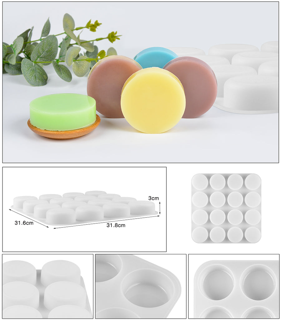 16 Cavities Silicone Cylinder Round Mould (PUR1015-04)