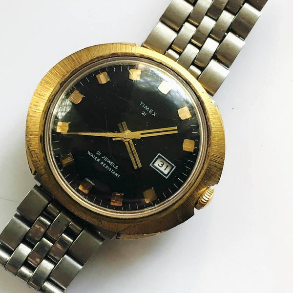 1972 Vintage Timex Wind Up Mechanical Watch, Made in Hong Kong