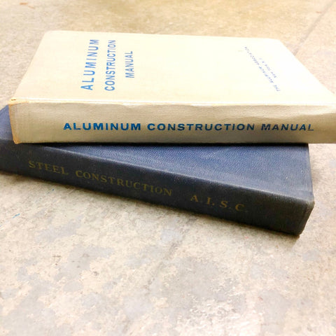 VINTAGE MANUALS: Steel Construction and Aluminum Construction Manuals - Sparrow Lane Vintage