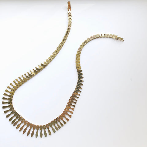 Vintage Italian Nine Karat Gold Cleopatra Style Necklace, Made in Italy - Sparrow Lane Vintage