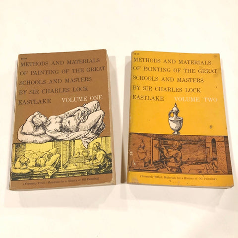 Vintage 1960 Books: Volume 1 & 2: Methods and Materials of Painting of the Great Schools and Masters - Sparrow Lane Vintage