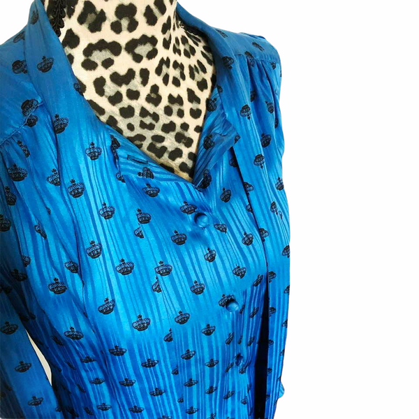1980s Vintage Silk Blouse by Adolfo New York